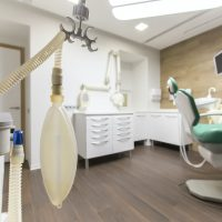 Dentistry cabinet with children chair in modern hospital